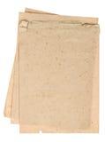 Feuilles utilisées de papier de regard Pages texturisées de livre Photos stock