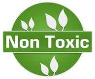 Feuilles vertes non toxiques de cercle Photographie stock