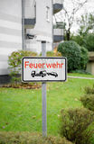 Feurwehr german street Royalty Free Stock Photo