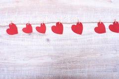 Feutre décoratif de coeur pour la conception au jour de valentines Images libres de droits