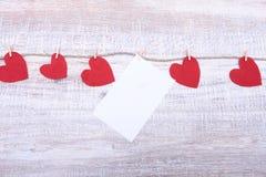 Feutre décoratif de coeur pour la conception au jour de valentines Images stock