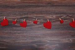 Feutre décoratif de coeur pour la conception au jour de valentines Photo stock