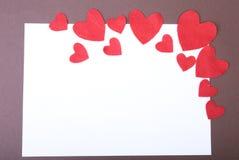 Feutre décoratif de coeur pour la conception au jour de valentines Photos stock