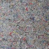 Feutre de gris avec les fils colorés de coton Photo stock
