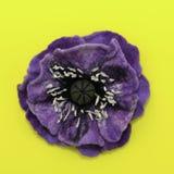Feutre fait main, fleurs photographie stock