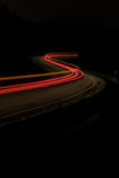 Feux arrière de voiture la nuit Photographie stock libre de droits