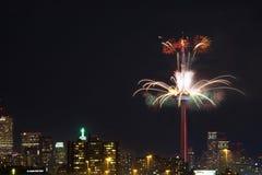 Feux d'artifice à la tour de NC à Toronto Photographie stock