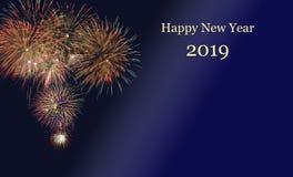Feux d'artifice à Silvester et à jour 2019 du ` s de nouvelle année photos stock