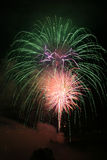 Feux d'artifice photo stock