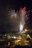 Feux d'artifice 2008 de Hastings Image stock