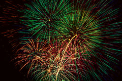 Feux d'artifice. Images libres de droits