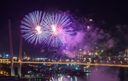 Feux d'artifice. Photos stock