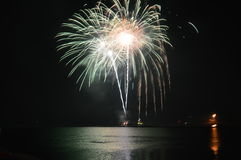 2017 feux d'artifice au pilier de marine Photographie stock