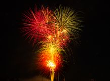 Feux d'artifice brillants Images stock