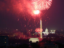 Feux d'artifice capitaux Images libres de droits