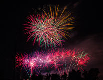 Feux d'artifice chez Arvest Ballparl Images libres de droits
