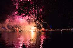 Feux d'artifice chez Epcot chez Walt Disney World Photo libre de droits