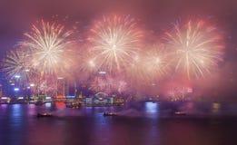 2015 feux d'artifice chinois de nouvelle année Photos stock