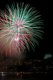 Feux d'artifice colorés photos stock