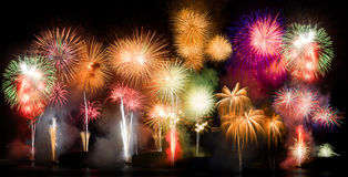 Feux d'artifice colorés Image stock