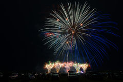 Feux d'artifice colorés Photographie stock libre de droits