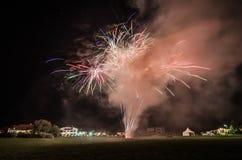 feux d'artifice colorés avec de la fumée Photo libre de droits