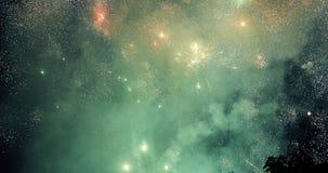Feux d'artifice colorés de nouvelle année photographie stock