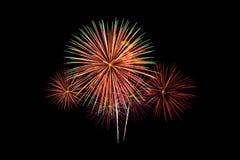 Feux d'artifice colorés de nouvelle année photo libre de droits