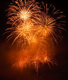 Feux d'artifice d'or Image stock