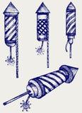 Feux d'artifice d'illustration Image libre de droits