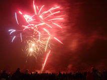 Feux d'artifice dans Barkingside Photos stock