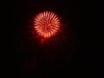 Feux d'artifice dans le ciel de nuit Image libre de droits
