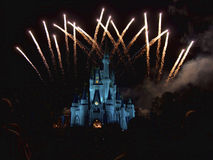 Feux d'artifice de Disney Photos libres de droits