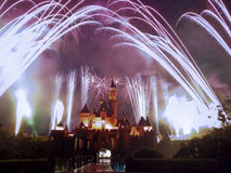 Feux d'artifice de Disney Photographie stock libre de droits