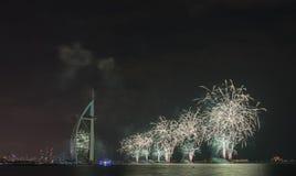Feux d'artifice de Dubaï pour le jour national Photos stock
