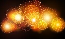 Feux d'artifice de fête de nuit Vecteur Photo libre de droits