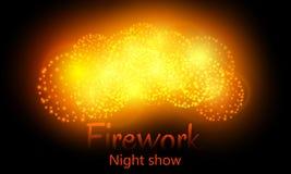 Feux d'artifice de fête de nuit Vecteur Image libre de droits