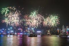 Feux d'artifice de Hong Kong Photos libres de droits