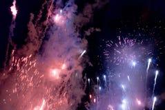 feux d'artifice de jour de l'australie Photo libre de droits
