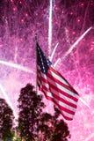 Feux d'artifice de Jour de la Déclaration d'Indépendance Photos libres de droits