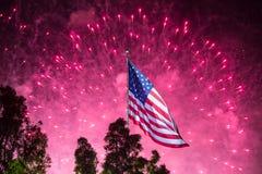 Feux d'artifice de Jour de la Déclaration d'Indépendance Image stock