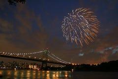 Feux d'artifice de Jour de la Déclaration d'Indépendance photographie stock