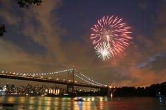 Feux d'artifice de Jour de la Déclaration d'Indépendance Photo stock