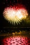 Feux d'artifice de Jour de la Déclaration d'Indépendance de Chicago Image libre de droits