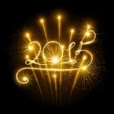 Feux d'artifice de la nouvelle année 2015 Images stock