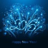 Feux d'artifice de la nouvelle année 2016 Image stock