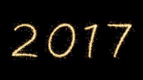 Feux d'artifice de la nouvelle année 2017 Image stock