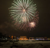 2015 feux d'artifice de la veille de nouvelle année Photo stock