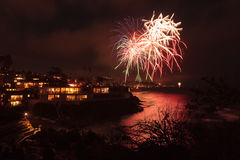 Feux d'artifice de Laguna Beach Image stock