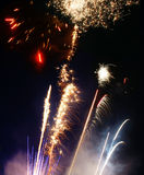 Feux d'artifice de Lauching Images stock